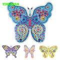 HAPPYXUAN 4 конструкций/много diy Stickey Мозаичного Искусства Наклейки Бабочки Головоломки Раннего Обучения Образование наборы для Детей 3-6years