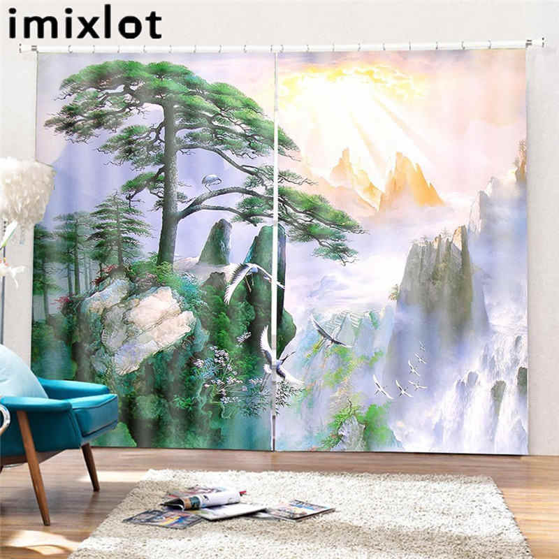 Imixlot 166*150cm Panel Blackout Curtains for Bedroom Living Room kid's Room Print Pattern Curtain Window Accessories