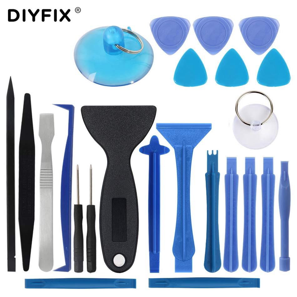 DIYFIX 24 In 1 Mobile Phone Opening Repair Tools Kit Screwdriver Set Disassemble Tools For IPhone IPad Tablet Laptop Hand Tools