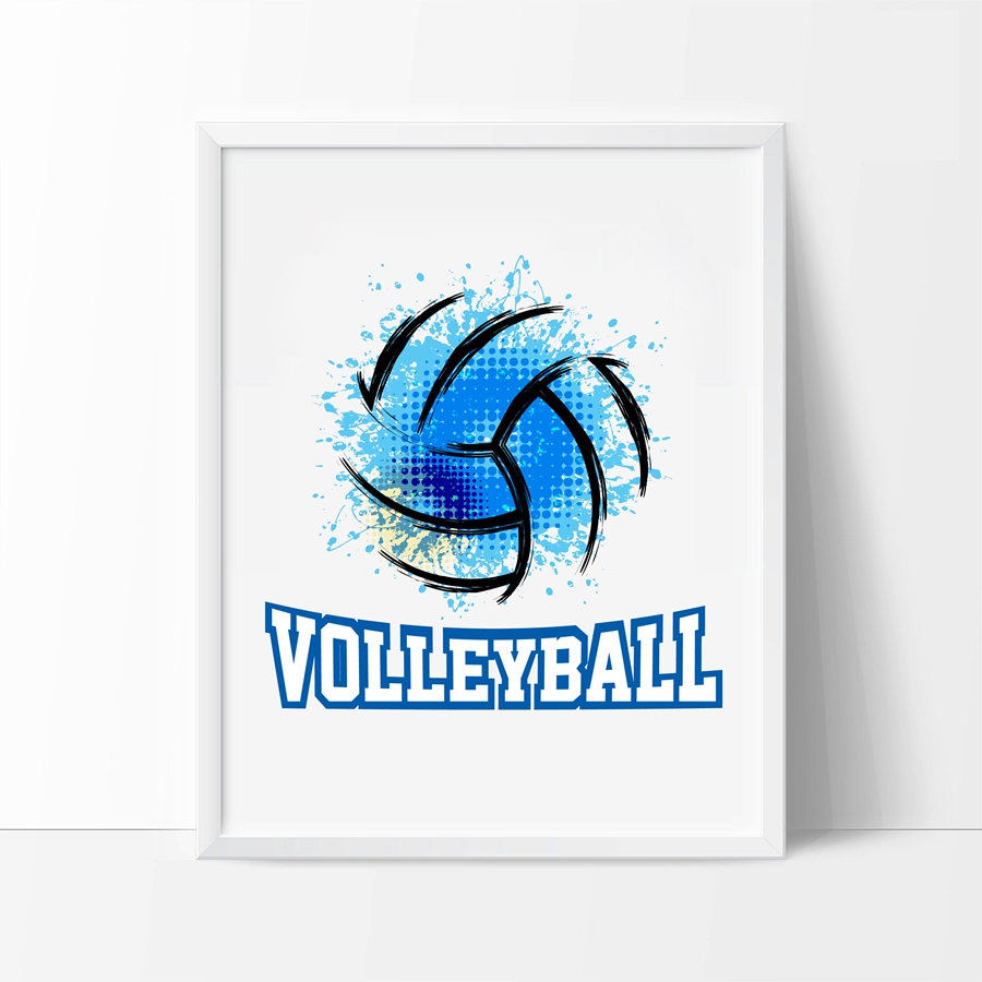volleyball art print sports poster volleyball gift canvas