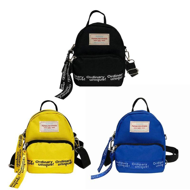HTB1kiO XfvsK1RjSspdq6AZepXam Multi-Use Teenage Girls Mini Backpack Nylon Letter Print Shoulder Crossbody Bags Casual Women Backpack Mochilas Mujer