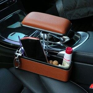 Image 1 - Boîte de rangement pour la console centrale de voiture en cuir artificiel universel, extension 2019, support pour accoudoir de voiture