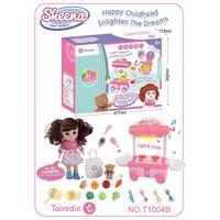 37 80Pcs DIY Pretend Play Fruit Cutting Birthday Cake Kitchen Food Toys Cocina De Juguete Toy Pink Blue Girls Gift for Children