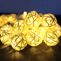 8 Modes 10M 38LED 7 Color Lantern Rattan Ball Fairy LED String Light For Holiday Christmas