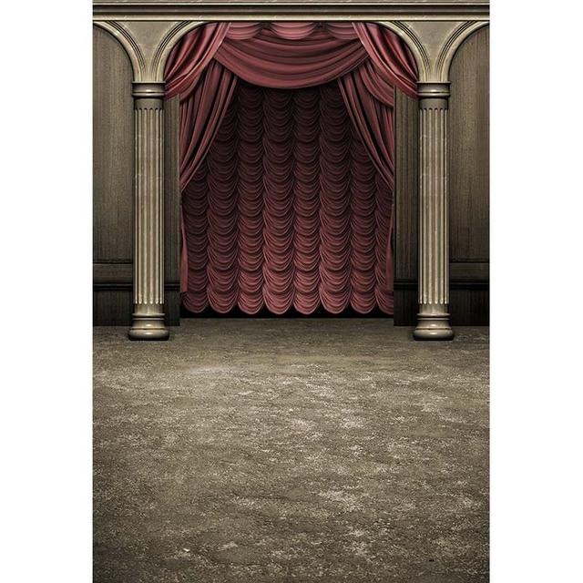 Opera podium fotografie achtergronden rode gordijnen stof foto ...