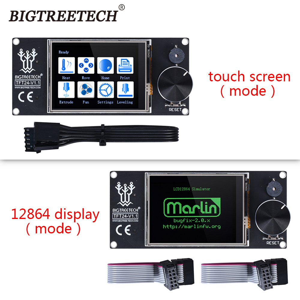 BIGTREETECH TFT24 V1.1 Smart Controller Touch Screen With 12864 LCD Display Panel For MKS SKR V1.3 PRo Ender 3 PRo 3D Board