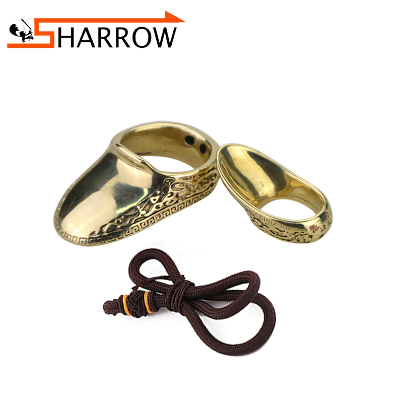 1pc Archery Finger Guard Brass Shooting Ring For Shooting Catapult Outdoor Sports Finger Protective Gear Traditional Thumb