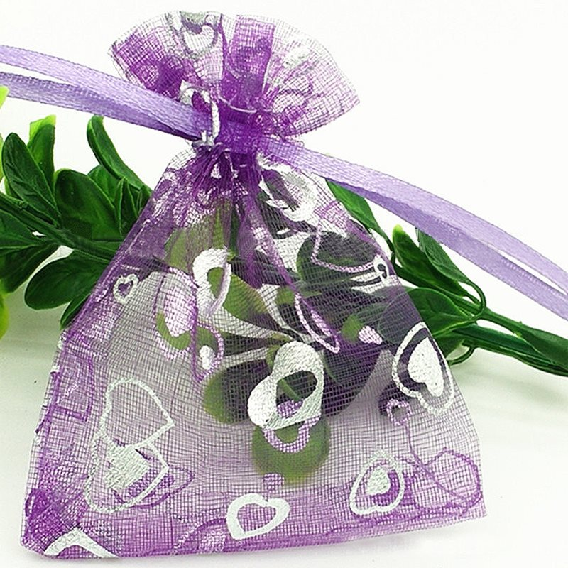wedding favors organza gift bags 9x12cm 100pcslot candy drawstring birthday party decoration halloween wrapping