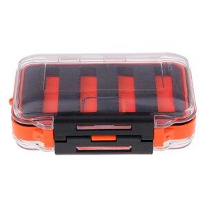 Image 1 - مزدوج الوجهين مقاوم للماء يطير صندوق معالجة الصيد شق رغوة يطير الصيد هوك الرقص حقيبة للتخزين 4.5x2.8x1.6 بوصة
