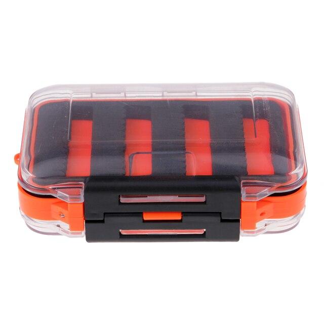 مزدوج الوجهين مقاوم للماء يطير صندوق معالجة الصيد شق رغوة يطير الصيد هوك الرقص حقيبة للتخزين 4.5x2.8x1.6 بوصة