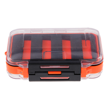 Double Sided Waterproof Fly Fishing Tackle Box Slit Foam Fly Fishing Hook Jigs Storage Case 4.5 x 2.8 x 1.6inch