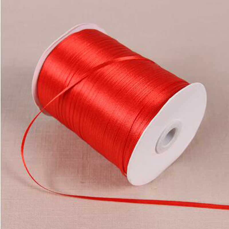 "1/8"" 3mm 25 Yards White Wine Red Satin Ribbon For Arts Crafts & Sewing Christmas Wedding Party Decoration Gift Wrap DIY Material"