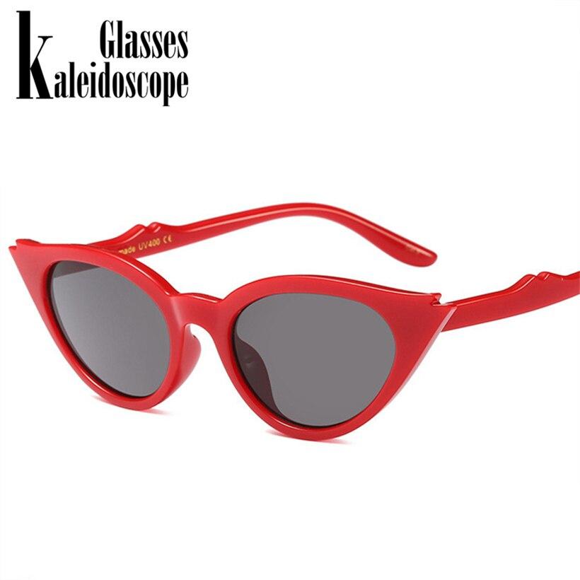 Kaleidoscope Glasses Cat Eye Sunglasses Women Cute Retro Brand Designer Small Triangle Vintage Sun Glasses Female UV400
