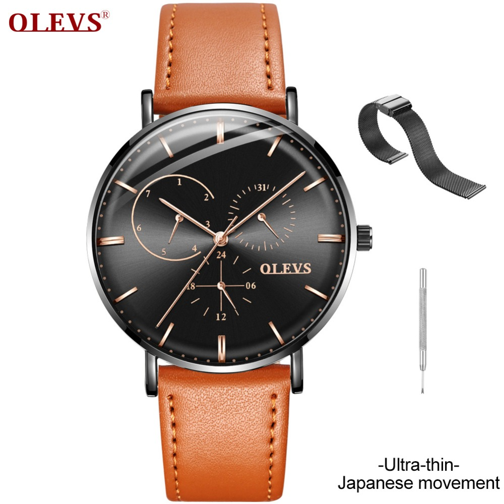 Top Brand Luxury OLEVS Relogio Masculino Mens Watches Ultra-thin Wrist Watch Leather Quartz Watch erkek saat naviforce relogiosTop Brand Luxury OLEVS Relogio Masculino Mens Watches Ultra-thin Wrist Watch Leather Quartz Watch erkek saat naviforce relogios