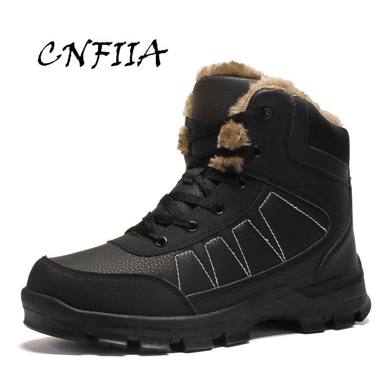 brown Cnfiia 45 Brun Boots 46 Taille Neige D'hiver Chaussures Mode Trekking Grande Fourrure Bottes Black Boots 47 De Cheville 2018 Qualité Chaud Hommes Noir rBwar7