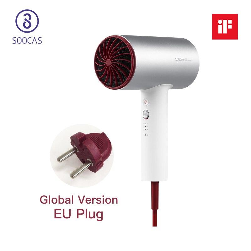 SOOCAS H3 UE plug ions Négatifs sèche-cheveux 1800 w professionnel 3 mode séchoir En Aluminium alliage puissant électrique cheveux sèche-xiaomi
