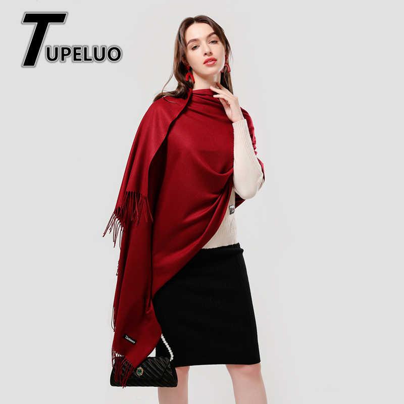 女性の冬のスカーフ 2020 純粋なカシミヤスカーフ厚いネックウォームヘッドバンドヒジャーブ女性ショールラップ毛布パシュミナ女性echarpe