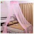 Вышитая кружевная москитная сетка  круглая розовая принцесса  Студенческая кровать с насекомыми  навес  сетка для потолка  занавеска для кр...