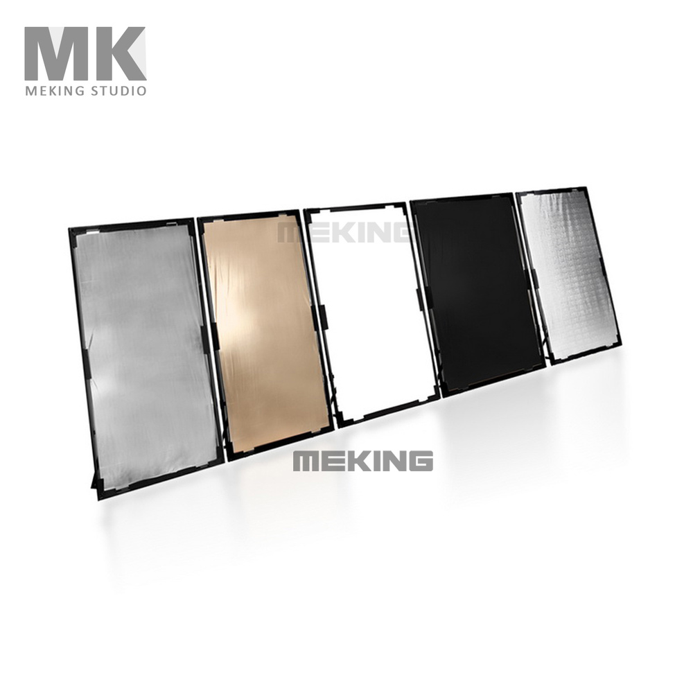 Reflector 5in1 100cm*200cm/40*80 With Alumininum Frame gold silver white black photography diffuser Photo Studio Accessories светоотражатель fujimi 110cm fj 702 5 in 1 white gold silver black diffuser
