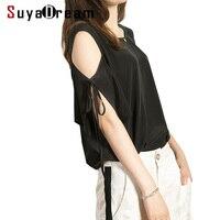 REAL SILK Women T SHIRT Drop Shoulder Sleeve O Neck Top Shirt 100 Natural Silk Fashion