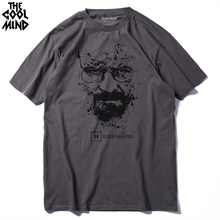 COOLMIND BR0111A Walter White Tops Cotton O Neck Heisenberg Men T shirt Short Sleeve Casual Breaking