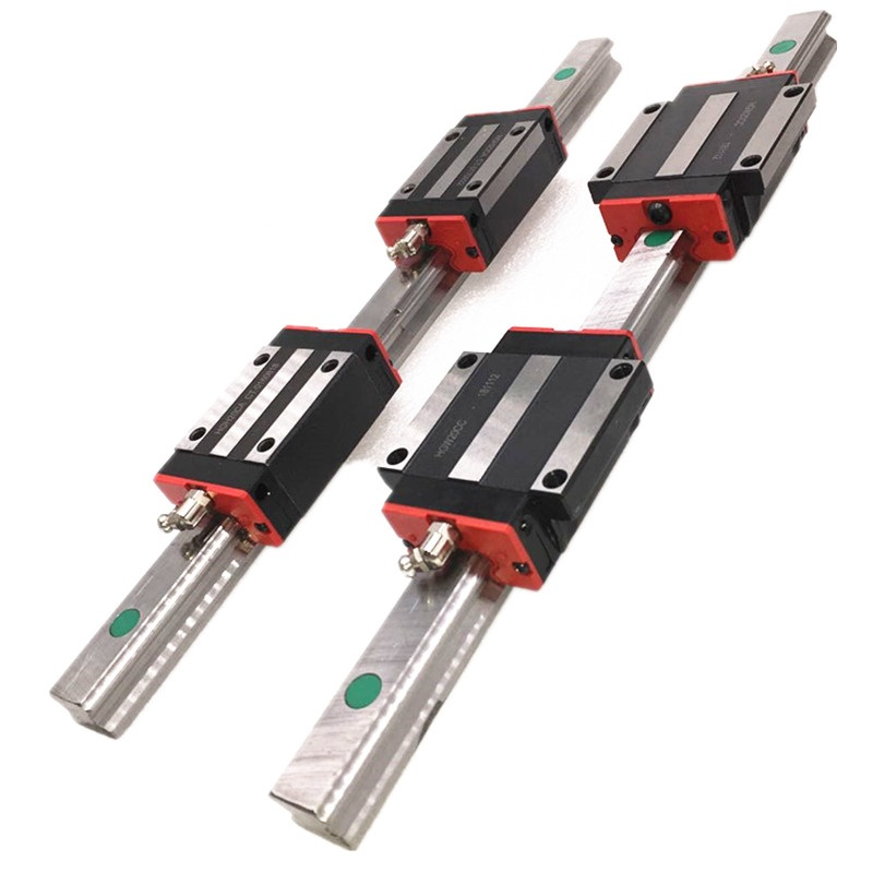 2pc HGR15 HGR20 Hgr25 Square Linear Guide Rail W+4pc HGH15CA Hgh20ca Hgh25ca /flang HGW15CC HGW20cc HGW25CA CNC Router Engraving