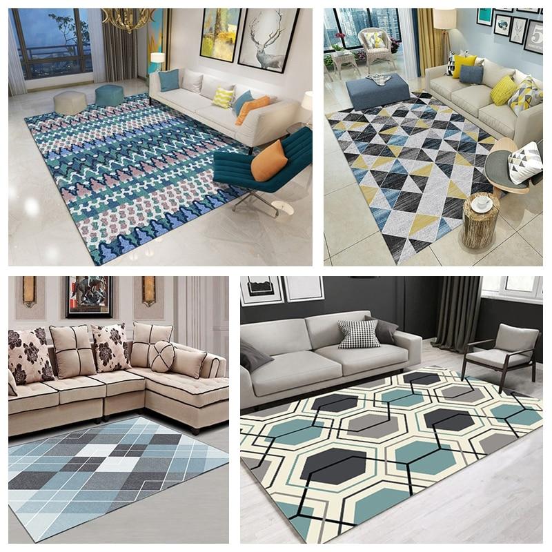 Lent arbre tapis moderne dans le salon grande Table basse géométrique chambre tapis 80x160CM Home Area photographie tapis - 6