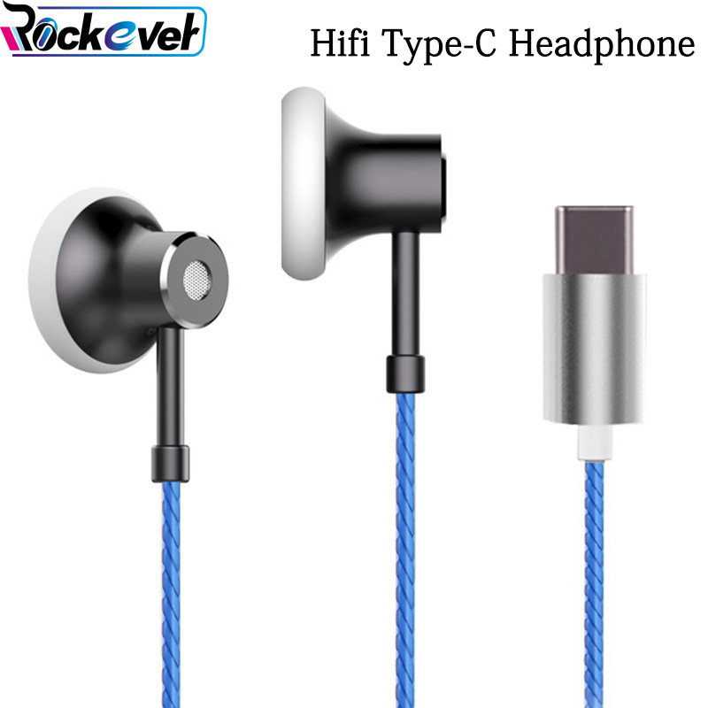 Digital USB TYPE C Earphone Metal Flat Noise Cancel Type-C Hifi Earbud Mic/Remote Control For Google Pixel 2 XL HTC U11/U Ultra