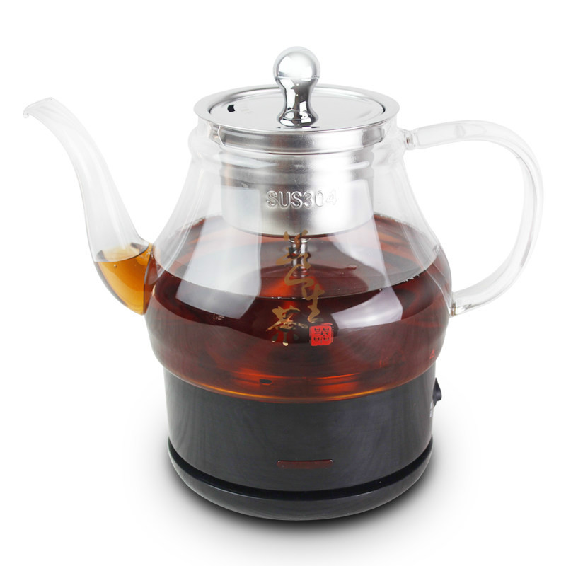 Electric kettle Black tea boiled machine automatic glass curing pot steaming electrothermal steam we electric cooking electric kettle automatic glass cooking pot steaming curing electric heating steam tea black tea boiled overheat protection