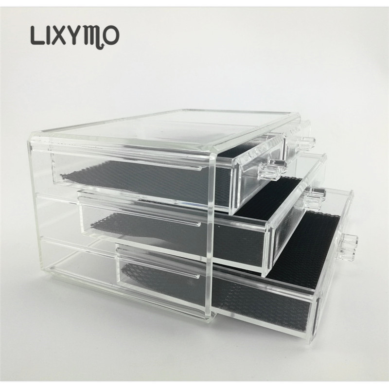 LIXYMO Kosmetik Make Up schmuck 3 schichten 3 große schubladen ...