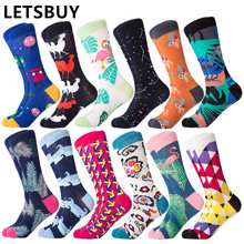 Long-Tube Socks Women Calcetines-De-Hombre Colorful Cartoon Kawaii LETSBUY Male for Lovely