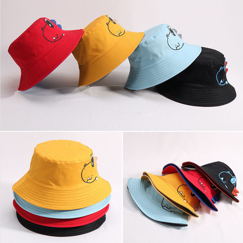 Apparel Accessories Dinosaur Baby Hat Cotton Double-sided Bucket Hat Baby Spring Autumn Cap Kids Hats Toddler Baby Accessories 2019 Official