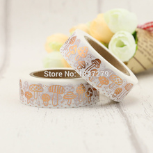 1X 1.5CM Wide Various Mushroom Collections Washi Tape DIY Scrapbooking Sticker Label Masking Tape School Office Supply