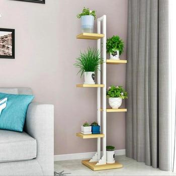 Modern Plant Shelves Iron Frame Standing Flower Shelf planten standaard Balcony Decor Living room Shelf Or Outdoor Furniture Полка