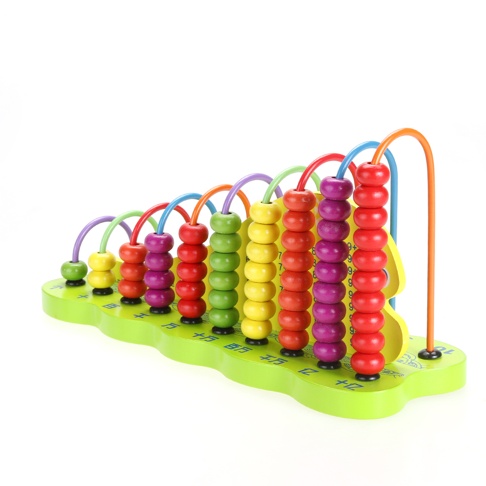 Montessori Kids Baby Toys Wood Beech Abacus Teaching Learning Educational Toy Preschool Training Brinquedos Juguets new children kids puzzle learning developmental versatile flap abacus wooden toys wood educational learning cock tool fci