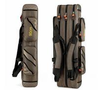 Free shipping 2018 Outdoor 3 layer Fishing Bags 120cm Waterproof fishing tackle bag fishing rod bag B096