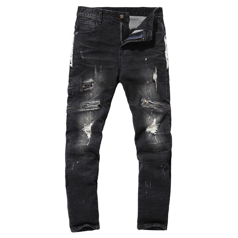 XMY3DWX 2018 Мужская мода Slim fit из чистого хлопка удобный карандаш Штаны/мужской полноценного отдыха воды стиральная ковбой брюки