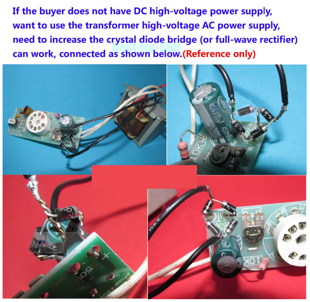Diy Dc170 250v Magic Eye Tube 6e2 Em84 Vu Meter Audio Level How To Build 4 Indicator Kit For Amp Signal In Integrated Circuits From Electronic Components Supplies On