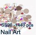 1440 unids SS20 Crystal AB Del Arte Del Clavo Con Super Brillante Para Uñas DIY Arte Bolsos Y Ropa
