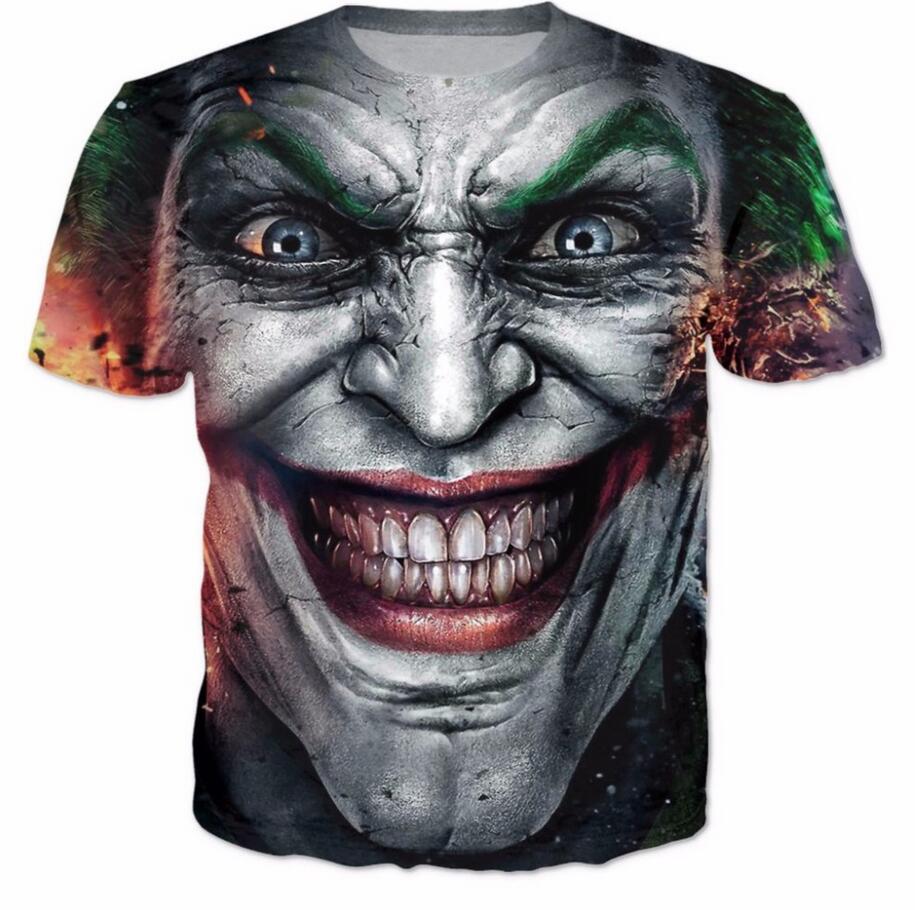 Die joker dc comics superheld 3d druck t-shirt frauen männer sommer stil t-shirt Harley Quinn Carnage joker t tops plus größe