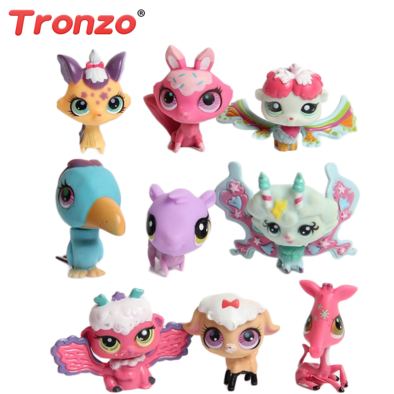 Tronzo 10/20 Pcs/Bag LPS Toy Little Pet Shop Model Animal Dolls Collection Action Figures Toy Birthday Easter Gift For Baby Girl lps toy pet shop cute beach coconut trees and crabs action figure pvc lps toys for children birthday christmas gift