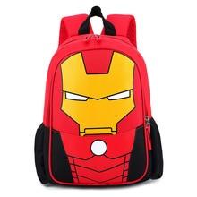 Hot Avenger 4 Childern Backpack spider Man Iron Captain America Superman Figure B557