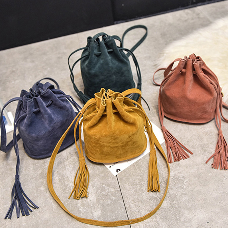 New Designer Handbags High Quality Women Bag Messenger Bags New Handbag Tassel Bucket Shoulder Handbags Crossbody