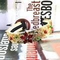 16 Nova Moda Ocidente Hipérbole gem flor Headwear coroa Tiaras de ouro barroco Retro acessórios para o Cabelo casamento jóias Presente amor
