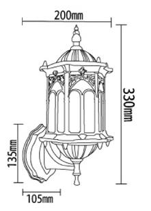 אורות קיר WCS-OWL003 חצר 3