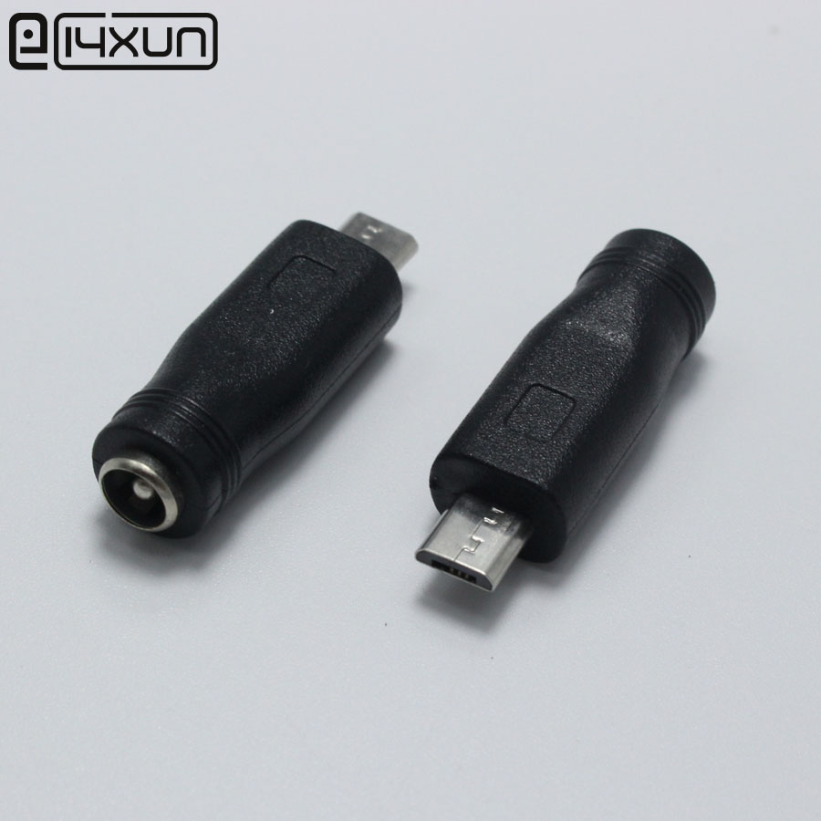 5.5 x 2.1 mm Female to Micro USB Male 5Pin DC Power Connector Adapter for V8 Android(China)