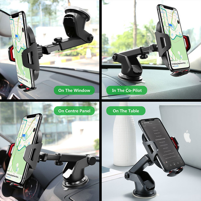 KISSCASE Car Phone Holder For iPhone Adjustable Holder For Phone in Car Windshield Stand Car Mobile Support Smartphone Voiture 5