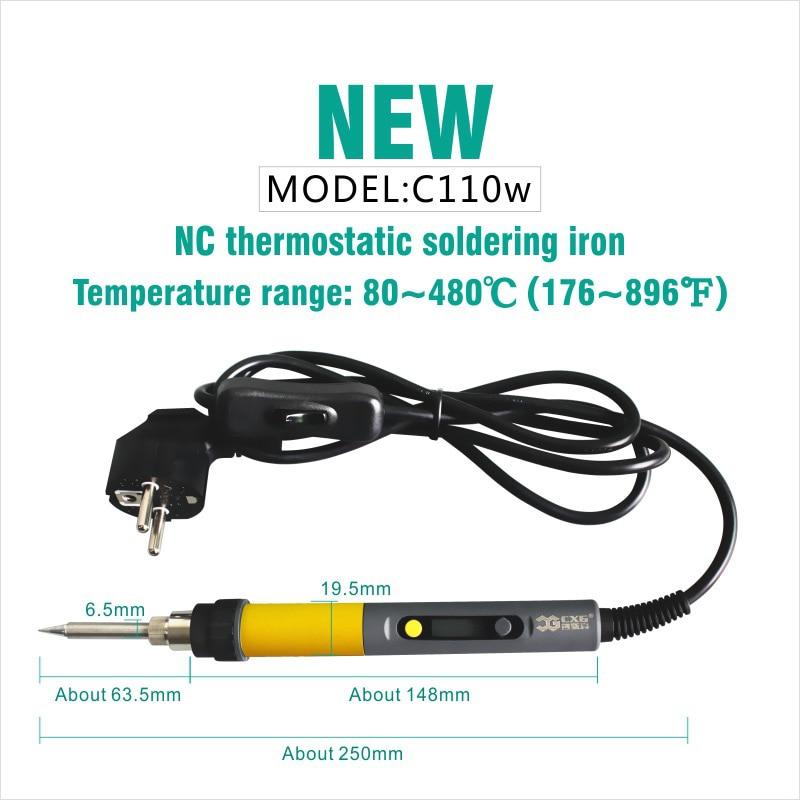 CXG C110W forrasztható vas LCD-állítható hőmérséklet NC T - Hegesztő felszerelések - Fénykép 5