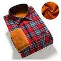 2017 Slim Fit Men Winter Long Sleeve Dress Shirt Warm Casual Vintage Corduroy Mens Formal Shirt Camisa Masculina (Asian Size)