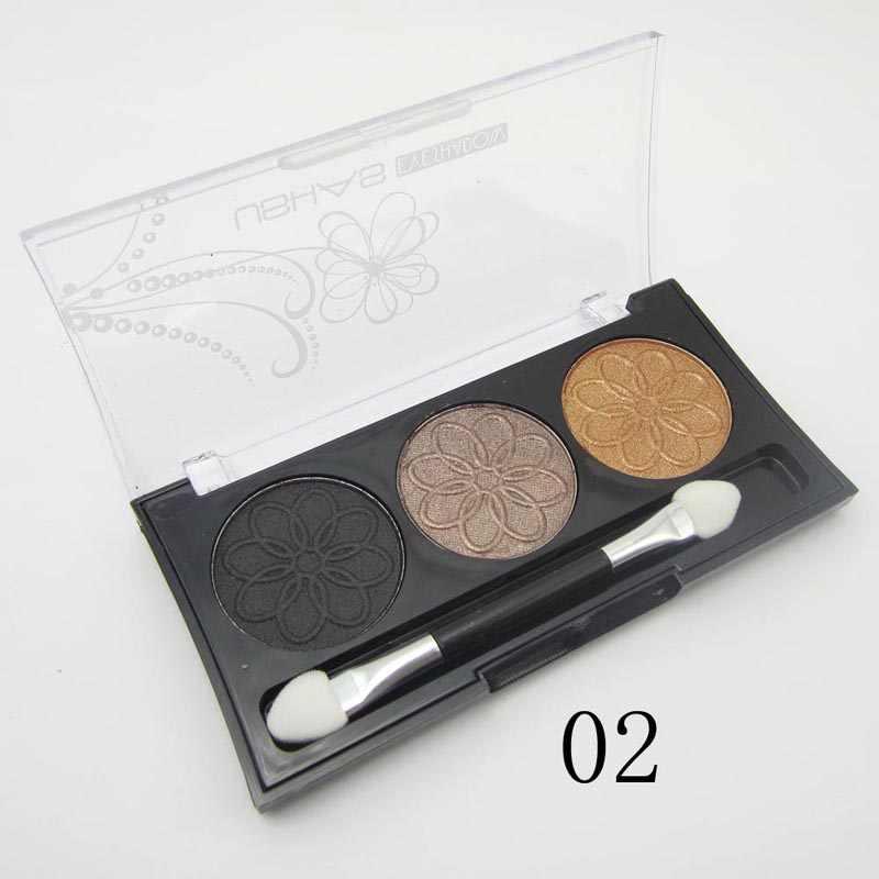 Professionale Terra Make Up Eye Shadow Palette 3 colori Pigment Trucco Nude Glitter Luccichio Dell'ombretto Set kosmetika